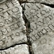 Ancient stone with latin inscription — Photo