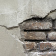 Cracked old brick wall - Stock Photo