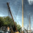 HDR image of a old sailingboat - Stock Photo