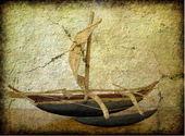 Гранж изображение деревянные лодки — Стоковое фото