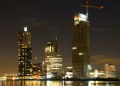 Part of the city of rotterdam in holland — Stock Photo