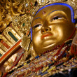 Golden buddha in a monastery in mongolia — Stock Photo