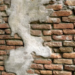 Cracked old brick wall — Stok fotoğraf