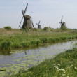Mill on kinderdijk holland - Stock Photo