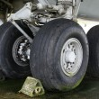 Stock Photo: Wheels from a big airplane
