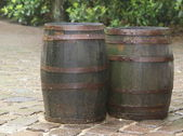 Two barrels — Stock Photo
