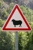 Warning roadsign — Stock Photo