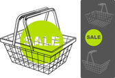 Supermarket basket — Stock Vector