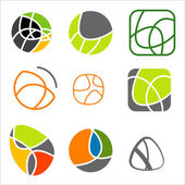 Elegant abstract curved vector icons — Stock Vector