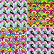 Royalty-Free Stock Vektorfiler: Seamless rainbow wallpaper