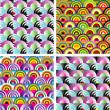 Seamless rainbow wallpaper — Stock Vector