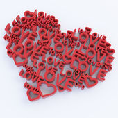 Heart from text — Stock Photo