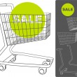 Royalty-Free Stock Vector Image: Supermarket cart