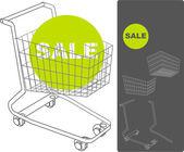 Supermarket cart — Stock Vector