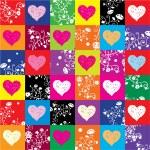 Hearts & flowers — Stock Vector
