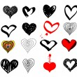 Valentines hearts set — Stock Vector