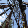 Ferris wheel in Pripyat, near Chernobyl - Stock Photo
