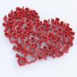 Heart and love 3d composition — Stock Photo
