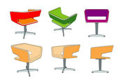 Vector colored armchair — Stock Vector