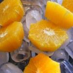 Orange on ice — Stock Photo #1511505