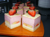Strawberry cake — Stock fotografie