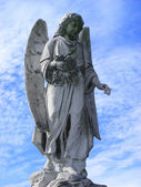 Angel guardian on cemetery — Foto Stock
