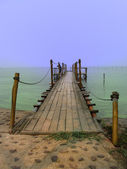 Wooden dock — Stock fotografie