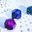 Dices set for astrologers - Stock Photo