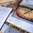 Astrology table - Foto Stock