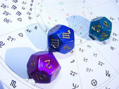 Dices set for astrologers — Stock Photo
