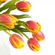 Beautiful bouquet of tulips - Stock Photo