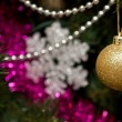 Stock Photo: Christmas tree, close up