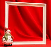 赤を木製フレーム — ストック写真