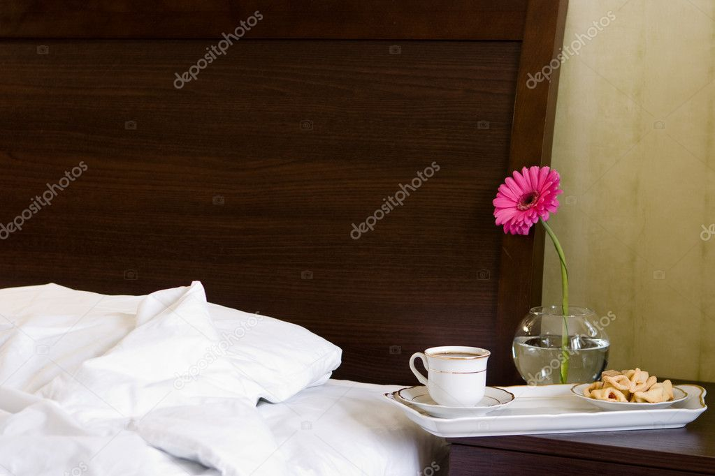 Breakfast in bed  Stock Photo #1572136
