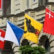 Swiss National Day parade in Zurich - Stock Photo