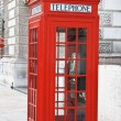 Red telephone booth in London — Stock Photo #1522040
