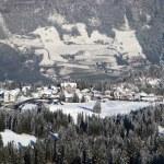 Курорт в швейцарских Альпах — Стоковое фото