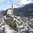 Small church in Scuol — Foto de Stock