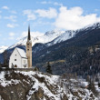 Small church in Scuol — Stock Photo