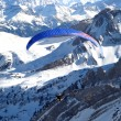 Paraglider above alps — Stock Photo #1527218