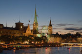 Night in Zurich — Stock Photo