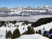 Alpine hotel in ski resort Flumserberg — Stock Photo