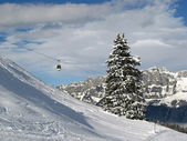 Skiing in Alps — Stock Photo
