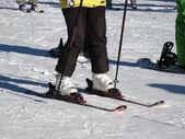 Elements of skiing equipmnet — Stock Photo
