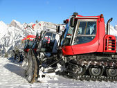 "Snow ""tractors"" — Stock Photo"