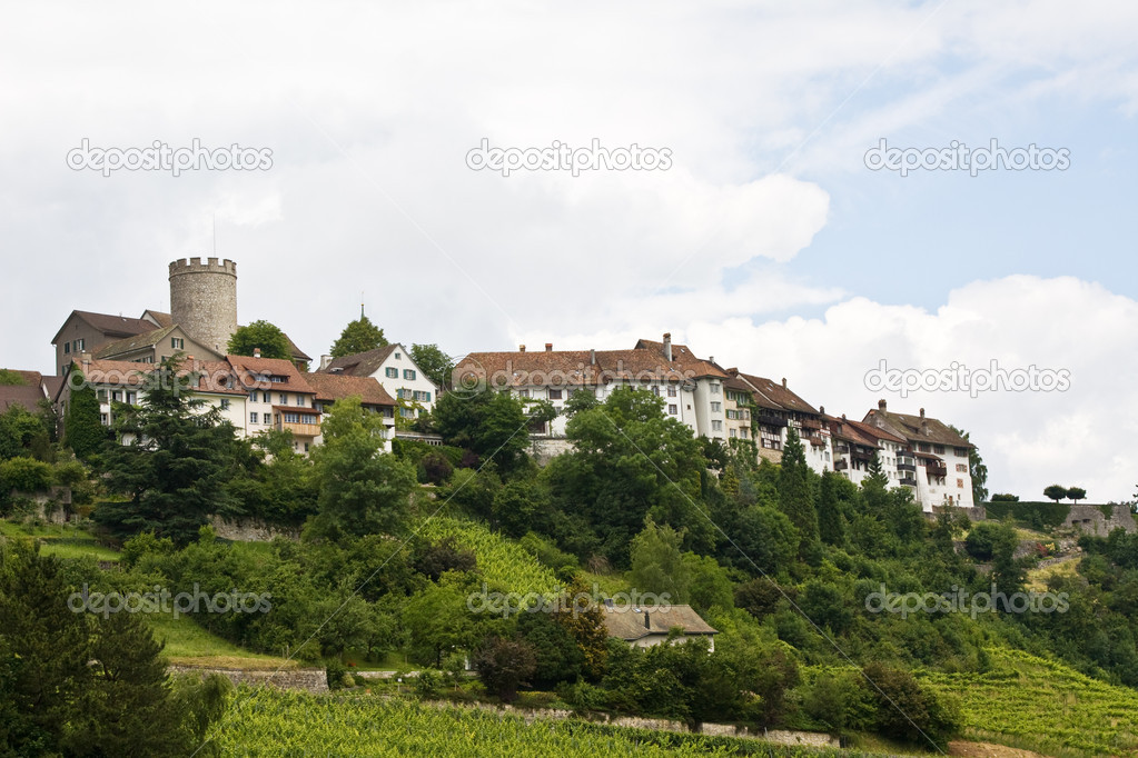 Regensberg castle near Zurich, Switzerland  Stock Photo #1523485