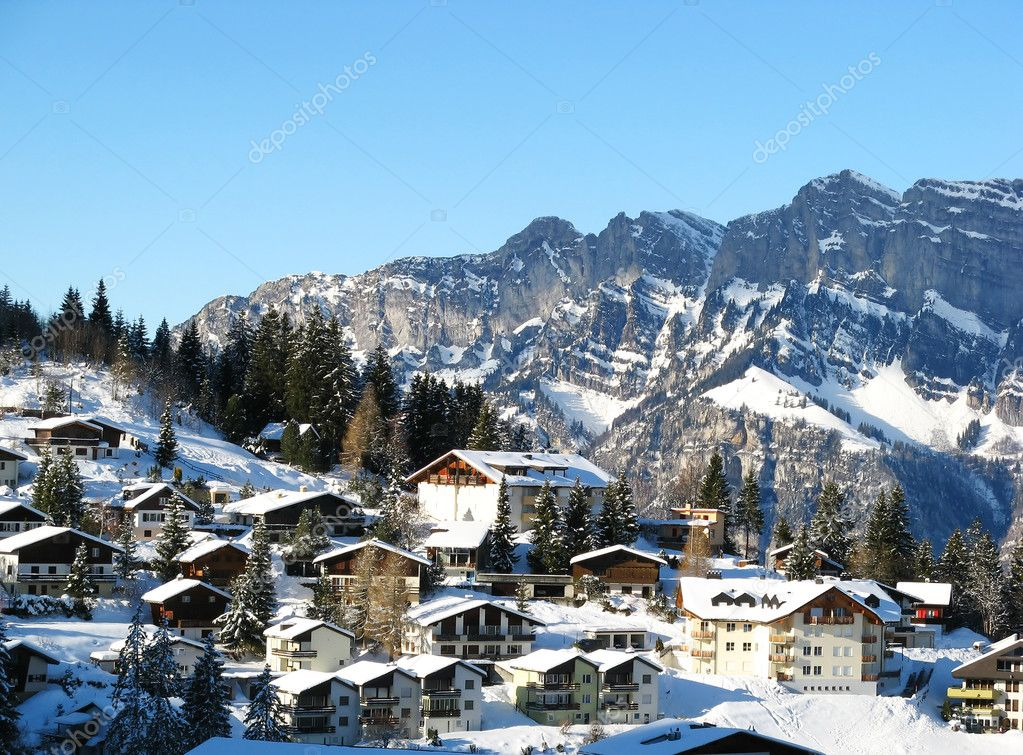 Flumserberg resort in swiss alps — Stock fotografie #1526195