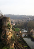 Medieval fortifications in Luxembourg — Stock Photo