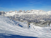 Skiing in Flumserberg — Stock Photo