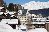 View of Davos dorf (Switzerland) — Stok fotoğraf
